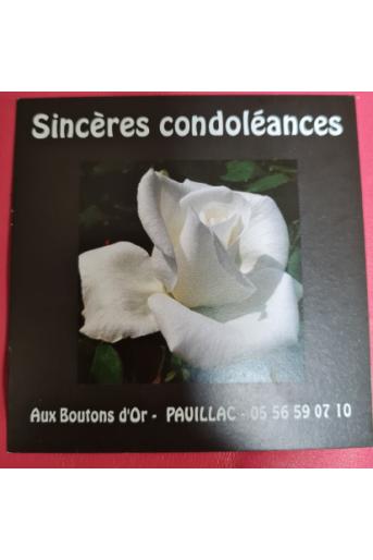 Carte Condolèances